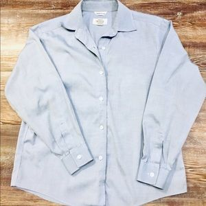 Talbots Petites Wrinkle Free Button-Up Dress Shirt
